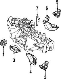 Montura del motor Original para Daewoo Lanos 1999 2000