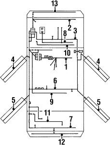 Imagen de Arnés de Cable de Batería Original para Daewoo Leganza 2002 Marca DAEWOO Número de Parte 96457040