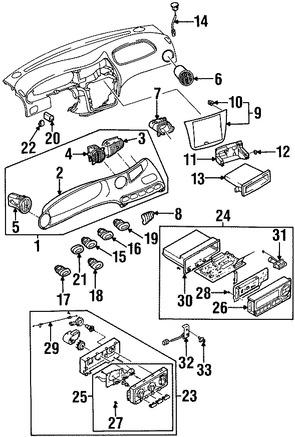 Cubierta de Panel de Instrumentos para Daewoo