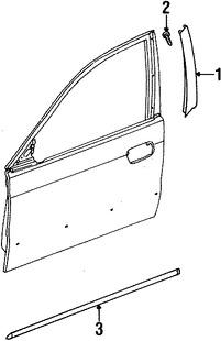 Moldura de Puerta Original para Daewoo Leganza 1999 2000