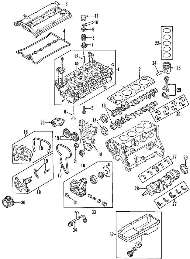 Sello del cigueñal del motor Original para Daewoo Lanos