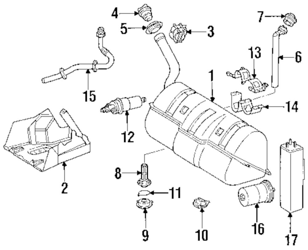 Imagen de Filtro de Combustible para Mercedes-Benz E320 1997 Mercedes-Benz E420 1997 Marca MERCEDES OEM Número de Parte 002 477 28 01