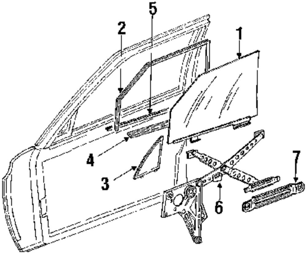 Imagen de Regulador de Vidrio Automatico para Mercedes-Benz 300SD 1984 Marca MERCEDES OEM Número de Parte 1267200546