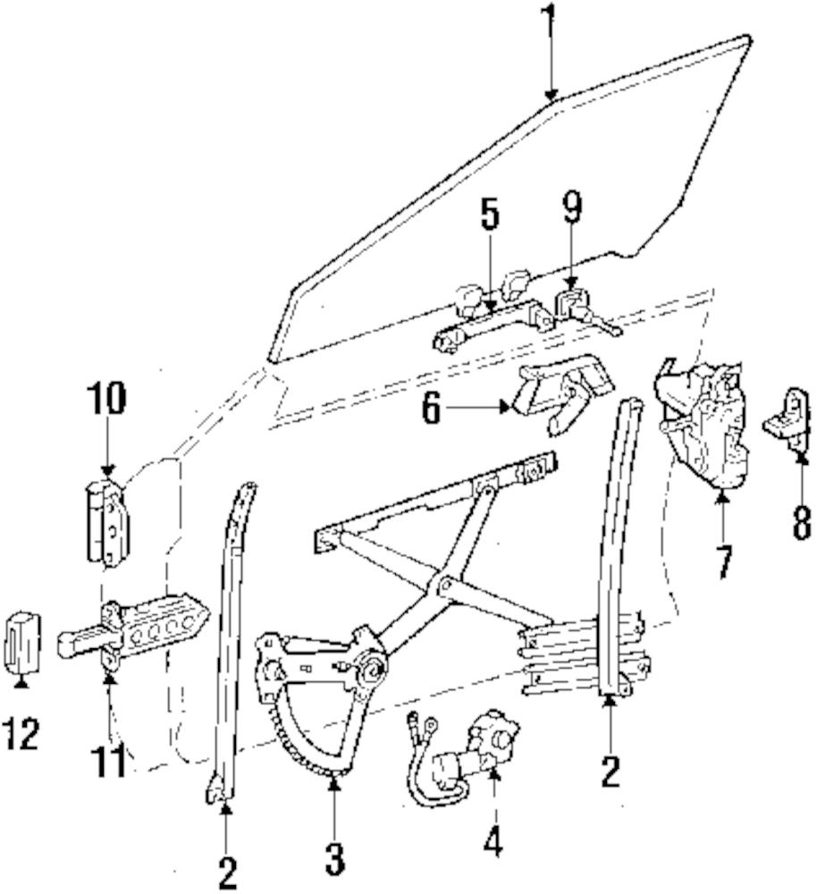 Imagen de Motor de Ventana eléctrica para Mercedes-Benz 300CE 1992 Marca MERCEDES OEM Número de Parte 129 820 74 42