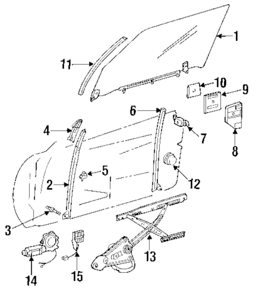 Imagen de Motor de Ventana eléctrica para Mercedes-Benz 500SL 1993 Marca MERCEDES OEM Número de Parte 129 820 75 42