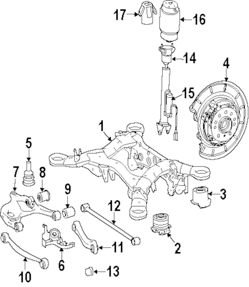 Imagen de Resorte Aire Suspension para Mercedes-Benz GL450 2008 Mercedes-Benz GL320 2009 Marca MERCEDES OEM Número de Parte 164 320 10 25