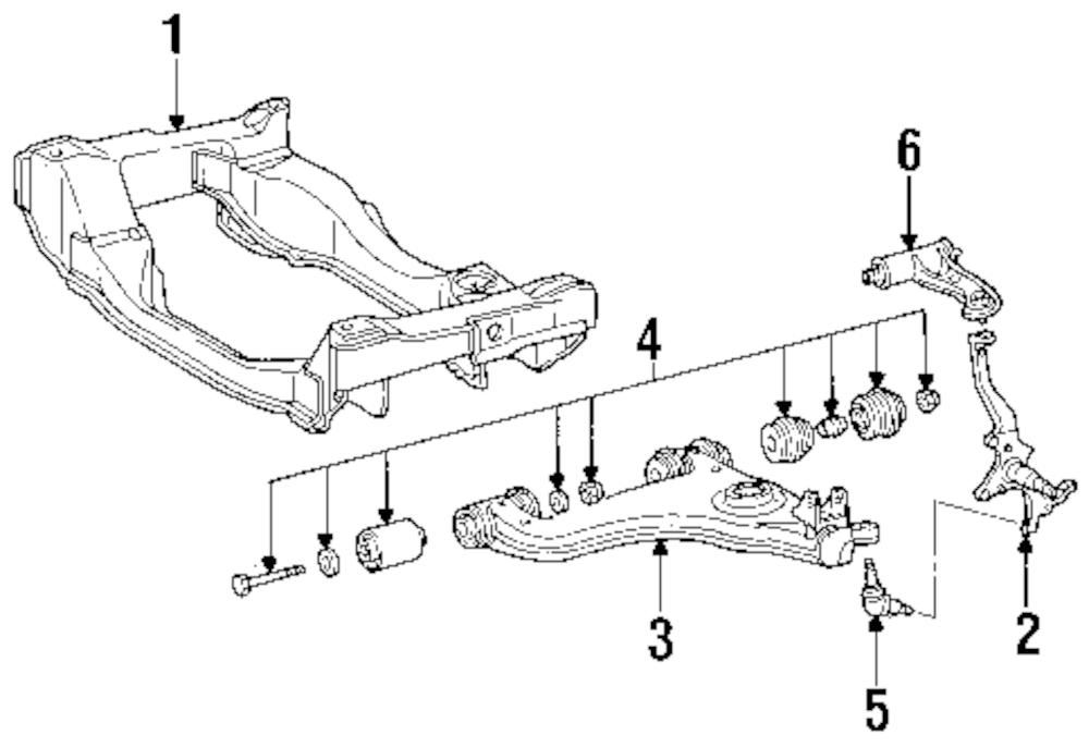 Imagen de Brazo de Control de suspensión para Mercedes-Benz E320 2003 Mercedes-Benz E420 1997 Marca MERCEDES OEM Número de Parte 210 330 76 07