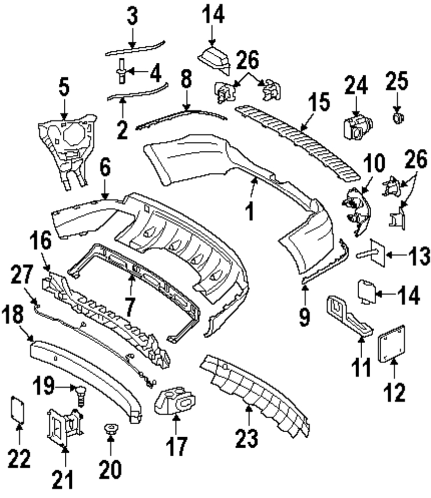 Imagen de Sensor de ayuda para Estacionar para Mercedes-Benz ML320 2008 Mercedes-Benz C300 2010 Marca MERCEDES OEM Número de Parte 221 542 04 17