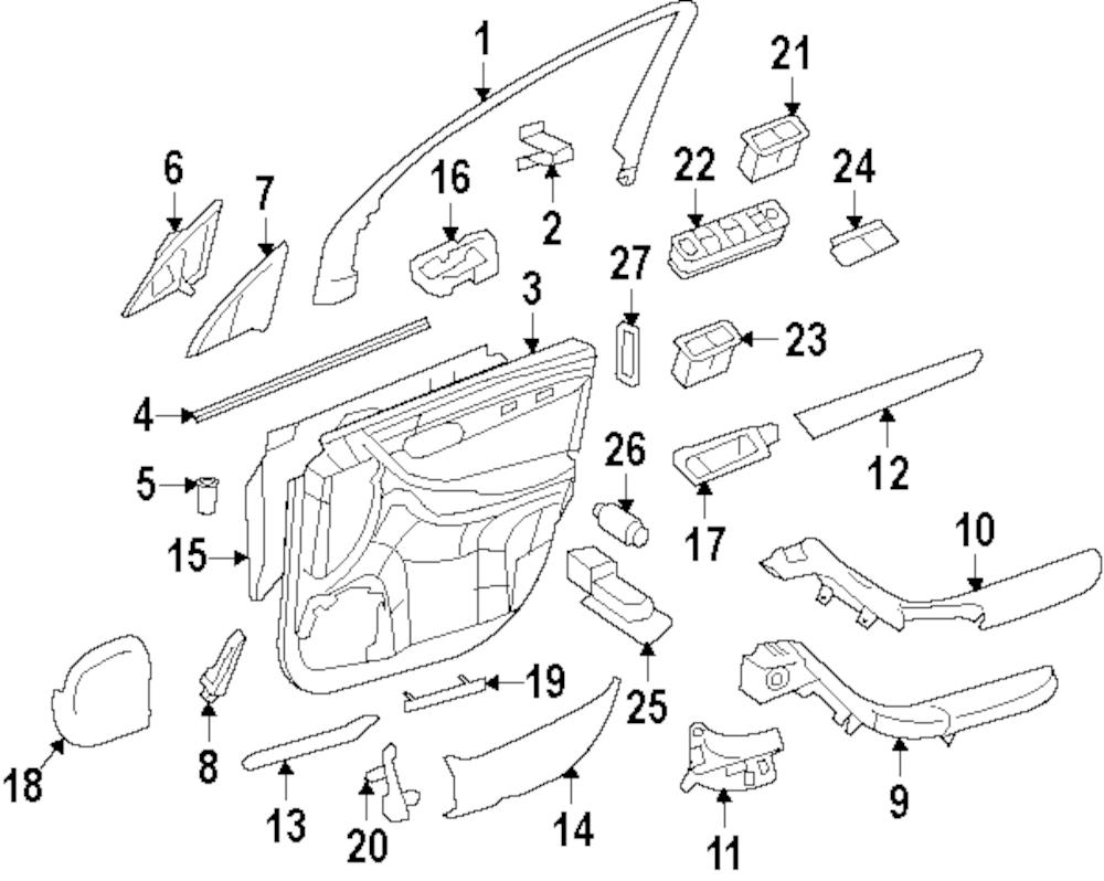 Imagen de Interruptor de vidrio eléctrico de la puerta para Mercedes-Benz R350 2009 Marca MERCEDES OEM Número de Parte 251 830 05 90 9051