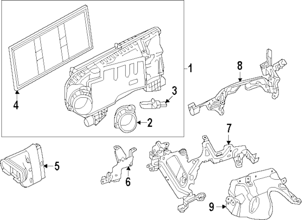 Imagen de Filtro de Aire para Mercedes-Benz E400 2014 Marca MERCEDES OEM Número de Parte 276 094 00 04