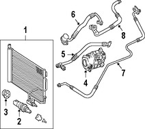 Imagen de Manguera de succión Refrigerante Aire Acondicionad Original para Mercedes-Benz CLK350 2006 2007 2008 2009 Marca MERCEDES BENZ Número de Parte 2722300756
