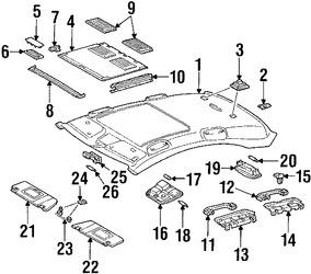 Imagen de Luz de mapa Original para Mercedes-Benz C280 2007 Mercedes-Benz C350 2007 Mercedes-Benz C230 2007 Marca MERCEDES BENZ Número de Parte 20382082018J12