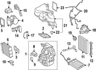 Imagen de Sensor de Temperatura de Evaporador Aire Acondicionado Original para Mercedes-Benz Smart Marca MERCEDES BENZ Número de Parte 2208300772