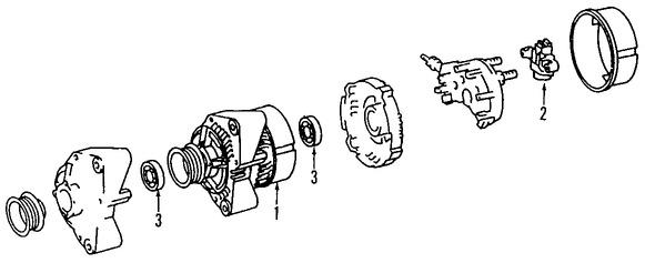 Imagen de Regulador de Voltaje Original para Mercedes-Benz C350 2006 2007 Marca MERCEDES BENZ Número de Parte 0031546106