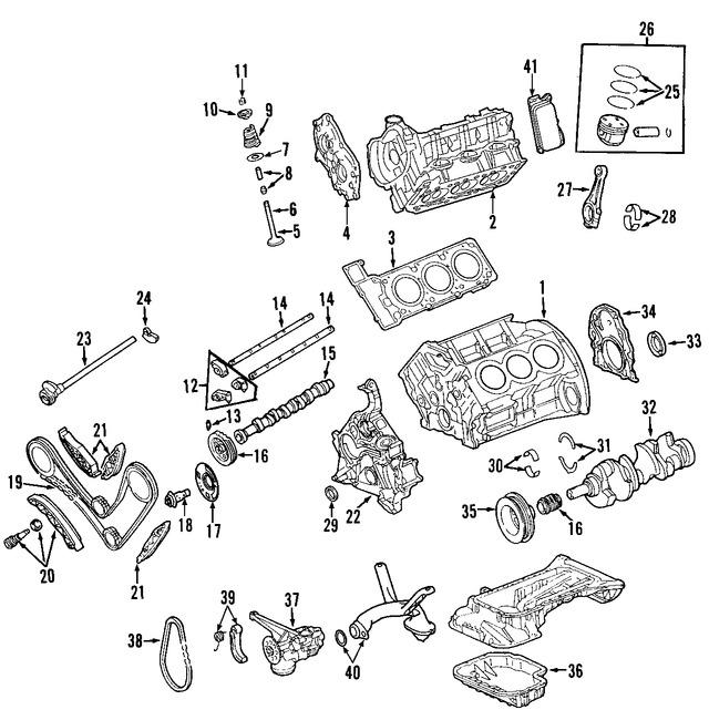 Imagen de Motor Completo Original para Mercedes-Benz C230 2006 2007 Marca MERCEDES BENZ Número de Parte 2720104402