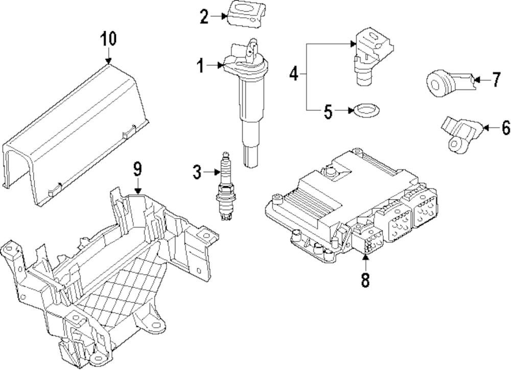 Imagen de Sensor de Detonación para Mini Cooper Cooper 2008 Marca MINI OEM Número de Parte 13 62 7 552 114