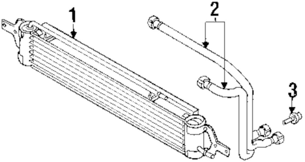 Imagen de Enfriador de Aceite de Transmision Automatica para Mini Cooper Cooper 2008 Marca MINI OEM Número de Parte 17 22 1 475 586
