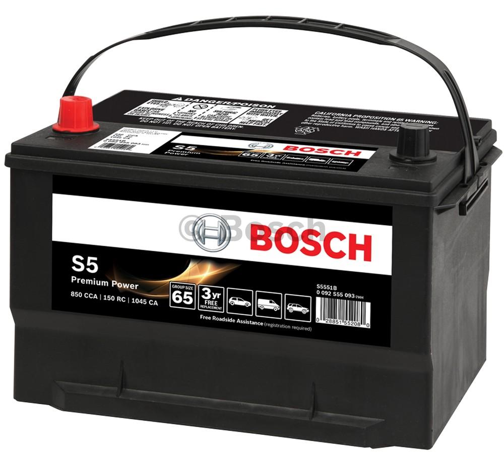 Imagen de Batería Libre Mantenimiento para BMW Mercedes-Benz Chrysler Fiat Peugeot Volvo Saab Porsche Audi GMC... Marca BOSCH Número de Parte S5532B