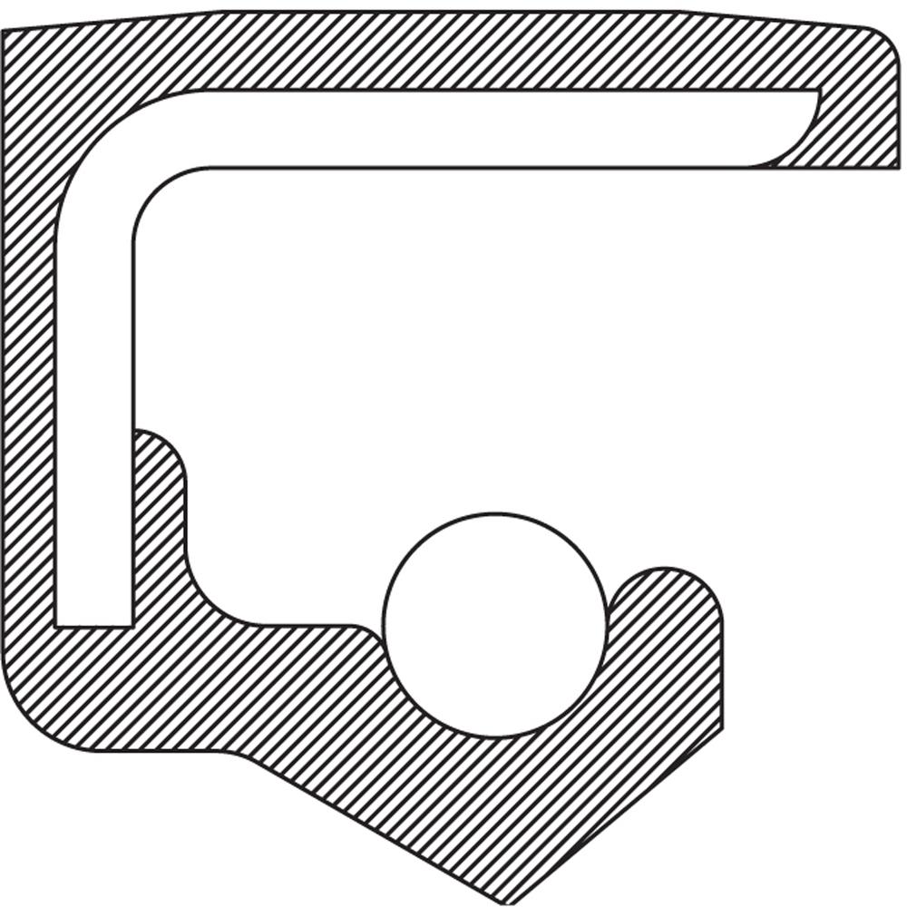 Imagen de Sello de la Rueda para Alfa Romeo GT Veloce 1969 Marca NATIONAL SEAL/BEARING Número de Parte 223035