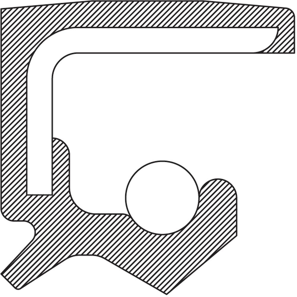 Imagen de Sello del cigueñal del motor para Chevrolet Camaro 2010 Marca NATIONAL SEAL/BEARING Número de Parte 710855