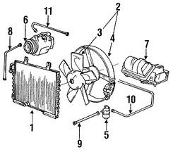 Imagen de Manguera Descarga Refrigerante Aire Acondicionado Original para BMW 318i 1991 1992 BMW 318is 1991 Marca BMW Número de Parte 64538391046