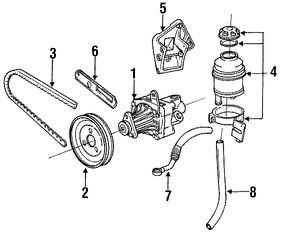 Imagen de Polea de Bomba de Dirección Original para BMW 318i 1991 1992 BMW 318is 1991 Marca BMW Número de Parte 32421717746