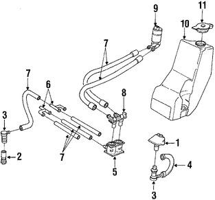 Imagen de Depósito del líquido de limpia parabrisa Original para BMW 530i 1994 1995 BMW 540i 1994 1995 Marca BMW Número de Parte 61678350933