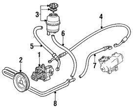 Imagen de Manguera Direccion Hidraulica Original para BMW 530i 1994 1995 BMW 540i 1994 1995 Marca BMW Número de Parte 32411141505