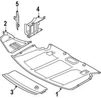 Imagen de Guardasalpicaduras del soporte del radiador Original para BMW 535i 2008 2009 Marca BMW Número de Parte 51717031942