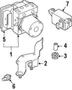 Imagen de Módulo de control de ABS Original para BMW 530xi 2006 2007 BMW 525xi 2006 2007 Marca BMW Número de Parte 34526777881