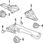 Imagen de Soporte de Montura del motor Original para BMW 528i 2008 BMW 528xi 2008 BMW 535i 2008 BMW 535xi 2008 Marca BMW Número de Parte 22116776676