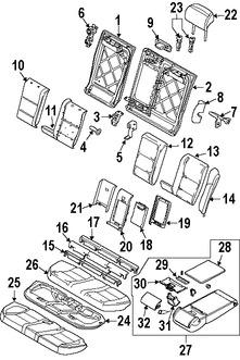 Imagen de Cobertor de bisagra de asiento Original para BMW 530xi 2006 2007 BMW 535xi 2008 Marca BMW Remanufacturado Número de Parte 52207142580