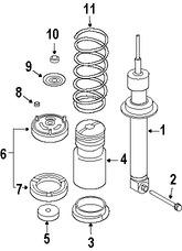 Imagen de Amortiguador Original para BMW 545i 2004 2005 BMW 550i 2006 Marca BMW Número de Parte 33526766995