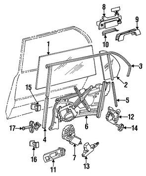 Imagen de Motor de Vidrio Eléctrico Original para BMW 735iL 1988 BMW 750iL 1988 BMW 735i 1988 Marca BMW Remanufacturado Número de Parte 51331374205