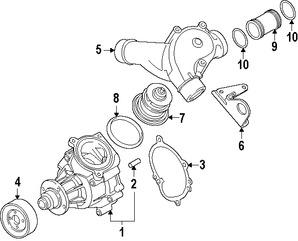 Imagen de Polea de la bomba de agua del motor Original para BMW Z4 2006 2007 2008 BMW Z3 2002 Marca BMW Número de Parte 11517840403