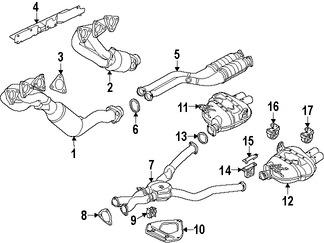 Imagen de Sujetador Sistema de Escape Original para BMW Z4 2006 2007 2008 Marca BMW Número de Parte 18207836637