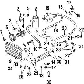Imagen de Manguera de Presión Dirección hidráulica Original para BMW 840Ci 1995 1996 1997 1994 Marca BMW Número de Parte 32411140116