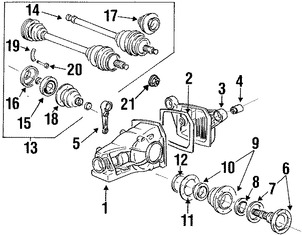 Imagen de Juego Bota para Junta Homocinetica Original para BMW 850CSi 1994 BMW Z3 2002 Marca BMW Número de Parte 33219067807