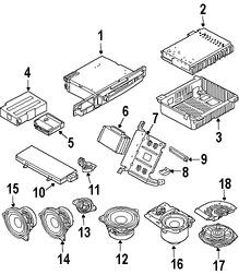 Imagen de Unidad de Control de Radio Original para BMW 745Li 2004 BMW 760Li 2004 BMW 745i 2004 BMW 760i 2004 Marca BMW Número de Parte 65126950303