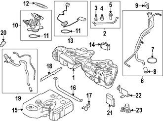 Imagen de Cuello Depósito de Combustible Original para BMW 740Ld xDrive 2015 Marca BMW Número de Parte 16117185148