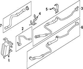 Imagen de Conjunto De Manguera Enfriador Aceite del Motor Original para BMW Marca BMW Número de Parte 17227592401