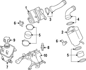 Imagen de Tanque de Recuperacion de Refrigerante Original para BMW Marca BMW Número de Parte 17137647281