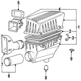 Imagen de Manguera de Admisión de Aire del motor Original para BMW 318i 1995 BMW 318is 1995 BMW 318ti 1995 Marca BMW Número de Parte 13711247618