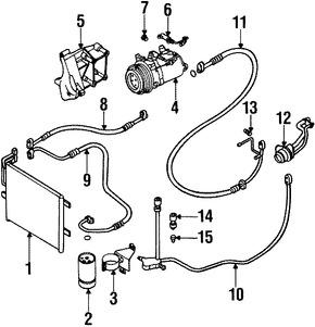 Imagen de Manguera de Refrigerante Aire Acondicionado Original para BMW 323i 1999 BMW 328i 1999 BMW 323Ci 2000 Marca BMW Número de Parte 64538387650