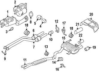 Imagen de Múltiple de Escape con Convertidor Catalítico Original para BMW 330i 2006 BMW 325i 2006 BMW 325xi 2006 BMW 330xi 2006 Marca BMW Remanufacturado Número de Parte 18407545309