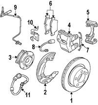 Imagen de Sensor de Velocidad Freno ABS Original para BMW M3 2008 2009 2010 2011 Marca BMW Número de Parte 34527841953