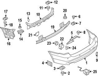 Imagen de Cubierta del parachoques Original para BMW 335xi 2007 2008 BMW 335i 2007 2008 Marca BMW Número de Parte 51127177480