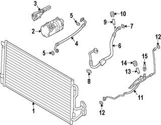 Imagen de Manguera de succión Refrigerante Aire Acondicionad Original para BMW ActiveHybrid 3 2013 2014 2015 Marca BMW Número de Parte 64539288152