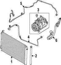 Imagen de Manguera de succión Refrigerante Aire Acondicionad Original para BMW 335i 2007 Marca BMW Número de Parte 64536929811