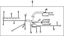 Imagen de Arnés de Cables del Motor Original para BMW 328i 2007 BMW 328xi 2007 Marca BMW Número de Parte 12517555015